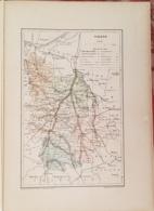 CARTE GEOGRAPHIQUE ANCIENNE: FRANCE: VIENNE (86) (garantie Authentique. Epoque 19 ème Siècle) - Cartes Géographiques