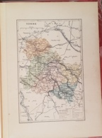 CARTE GEOGRAPHIQUE ANCIENNE: FRANCE: YONNE (89) (garantie Authentique. Epoque 19 ème Siècle) - Cartes Géographiques
