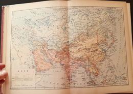 CARTE GEOGRAPHIQUE ANCIENNE: AMERIQUE DU SUD, ASIE (garantie Authentique. Epoque 19 ème Siècle) - Cartes Géographiques