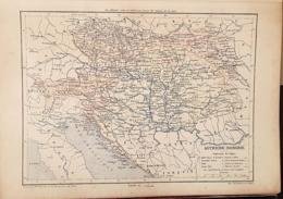CARTE GEOGRAPHIQUE ANCIENNE: AUTRICHE-HONGRIE (garantie Authentique. Epoque 19 ème Siècle) - Cartes Géographiques