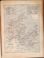 CARTE GEOGRAPHIQUE ANCIENNE: DANEMARK (garantie Authentique. Epoque 19 ème Siècle) - Cartes Géographiques