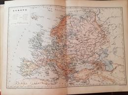CARTE GEOGRAPHIQUE ANCIENNE: EUROPE (garantie Authentique. Epoque 19 ème Siècle) - Landkarten