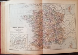 CARTE GEOGRAPHIQUE ANCIENNE: FRANCE POLITIQUE (garantie Authentique. Epoque 19 ème Siècle) - Cartes Géographiques
