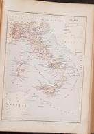 CARTE GEOGRAPHIQUE ANCIENNE: ITALIE (garantie Authentique. Epoque 19 ème Siècle) - Cartes Géographiques