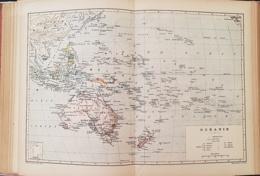 CARTE GEOGRAPHIQUE ANCIENNE: OCEANIE (garantie Authentique. Epoque 19 ème Siècle) - Cartes Géographiques