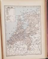 CARTE GEOGRAPHIQUE ANCIENNE: PAYS BAS (garantie Authentique. Epoque 19 ème Siècle) - Cartes Géographiques