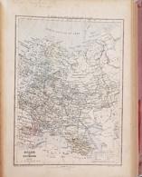 CARTE GEOGRAPHIQUE ANCIENNE: RUSSIE, ROUMANIE (garantie Authentique. Epoque 19 ème Siècle) - Cartes Géographiques