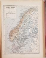 CARTE GEOGRAPHIQUE ANCIENNE: SUEDE ET NORVEGE DANEMARK (garantie Authentique. Epoque 19 ème Siècle) - Cartes Géographiques