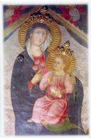 Lucca - Santino MADONNA DELLA ROSA SU TRONO CUSPIDATO (Affresco Sec. XIV) - OTTIMO P99 - Religione & Esoterismo