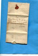 Grande Bretagne-OLD LETTER -1711- Cachet De Cire Au Dos +cachet IY 27-document Entier - Marcophilie