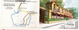 Robinson-Malabry (92 Hauts De Seine) Dépliant Couleur RESTAURANT L'ERMITAGE (propr Ratti) (PPP17200) - Publicités