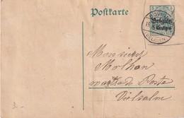 ALLEMAGNE OCCUPATION BELGE 1915 ENTIER POSTAL/GANZSACHE/POSTAL STATIONERY CARTE DE BOVIGNY - Occupation 1914-18