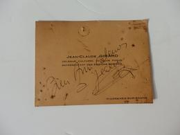 Carte De Visite De Jean-Claude Girard Délégué Culturel Du Club Focus à Créches-sur-Saône (71). - Visiting Cards
