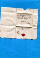 Grande Bretagne-OLD LETTER -1714 Cachet De Cire Au Dos +cachet  Rond 7  V R- Ob Linéaire??document Entier - Marcophilie