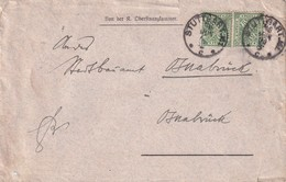 ALLEMAGNE 1908 LETTRE DE STUTTGART POUR OSNABRÜCK - Allemagne
