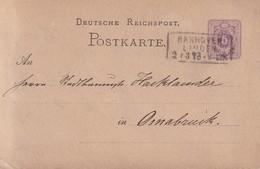 ALLEMAGNE 1878 ENTIER POSTAL/GANZSACHE/POSTAL STATIONERY CARTE DE HANNOVER POUR OSNABRÜCK - Entiers Postaux