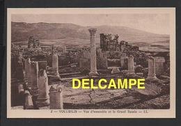 DF / MAROC / SITE ARCHÉOLOGIQUE DE VOLUBILIS / VUE D' ENSEMBLE ET LE GRAND BASSIN - Maroc