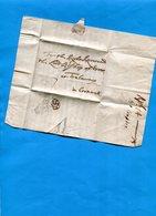 Grande Bretagne-OLD LETTER -1704 Cachet De Cire Au Dos +cachet  Rond Ap 14- +cachet Triangulaire+??document Entier - Marcophilie