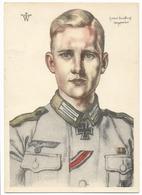 Ritterkreuzträger  Werhmacht Heer - Titulaires De La Croix De Fer  - Obergefreiter Brinkforth  - Dessin De Willrich - Guerre 1939-45