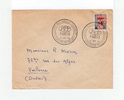 Enveloppe Journée Nationale De Salidarité Sinistrés De Fréjus Déc. 1959. Marianne à La Nef Surchargée Fréjus. (1089x) - Marcophilie (Lettres)