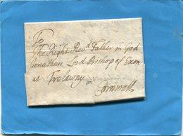 Grande Bretagne-OLD LETTER -1703 Cachet De Cire Au Dosdocument Entier - Marcophilie