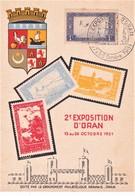 Algérie Carte Lettre 2e Foire Oran 28/10/51 - Algérie (1924-1962)