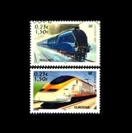Frankreich / France: 'Eisenbahn - Züge, 2001' / 'Trains', Mi. 3545+3551; Yv. 3405+3411; Sc. 2833 O - Used Stamps
