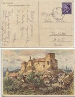 Böhmen Und Mähren Karte Unterstadt 31.7.43 Fremdarbeiter DAF-Lager Glashütte/Sa. - Böhmen Und Mähren