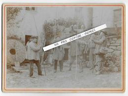34 - FRONTIGNAN - LA SALVETAT - Photo Sur Carton épais 13,5 X 18,5cm - 1905 - Départ Pour Pêche Au Saut De VESOLES - Lieux