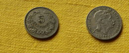 Luxembourg   5 Centimes 1901   Km#24 L 268.1   Cupronickel  Adolphe - Luxembourg
