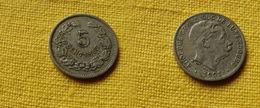 Luxembourg   5 Centimes 1901   Km#24 L 268.1   Cupronickel  Adolphe - Luxemburgo