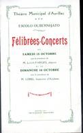 Aurillac (15 Cantal) Programme FELIBREES-CONCERT (sd)  (PPP10192) - Programs