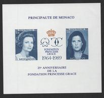 MONACO 1989 - BF BLOC FEUILLET NON DENTELE - N° 48 ** MNH - COTE 465 EUR - Blocs
