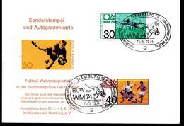 ALLEMAGNE  Carte  Hamburg 12 Cup 1974   Football  Soccer Fussball - Coppa Del Mondo