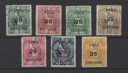 GUATEMALA. YT   N° 130/136  Obl  1903 - Guatemala