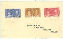 British Virgin Is: 1937   Coronation   COVER - British Virgin Islands