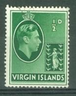 British Virgin Is: 1938/47   KGVI   SG110a   ½d    Used - British Virgin Islands