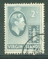 British Virgin Is: 1938/47   KGVI   SG113a   2d    Used - British Virgin Islands