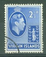 British Virgin Is: 1938/47   KGVI   SG114a   2½d   Used - British Virgin Islands