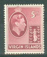 British Virgin Is: 1938/47   KGVI   SG119a   5/-   [Ordinary]  MH - British Virgin Islands