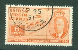 British Virgin Is: 1951   Restoration Of Legislative Council  SG132   6c   Used - British Virgin Islands