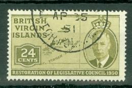 British Virgin Is: 1951   Restoration Of Legislative Council  SG134   24c   Used - British Virgin Islands