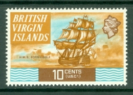 British Virgin Is: 1970/74   QE II - Ships  SG248   10c   MH - British Virgin Islands