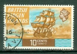 British Virgin Is: 1970/74   QE II - Ships  SG248   10c   Used - British Virgin Islands