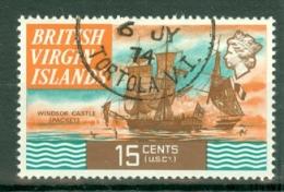 British Virgin Is: 1970/74   QE II - Ships  SG250   15c   Used - British Virgin Islands