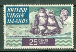 British Virgin Is: 1970/74   QE II - Ships  SG251   25c   Used - British Virgin Islands