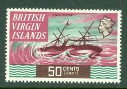 British Virgin Is: 1970/74   QE II - Ships  SG252   50c   MH - British Virgin Islands