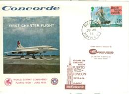 British Virgin Is: 1976   Concorde - First Charter Flight    Certifed COVER - British Virgin Islands