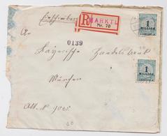 EINSCHREIBEN BRIEF MARKTL 16.10.1923 - Allemagne