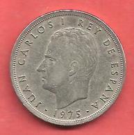 5 Pesetas , ESPAGNE , Cupro-Nickel , 1975 ( 80 ) , N° KM # 807 , N° Y128 - 5 Pesetas